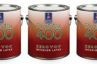 Sherwin Williams' Zero VOC ProMar 400 Paint Series