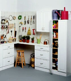 This garage configuration from Estate Storage puts everything in its place.