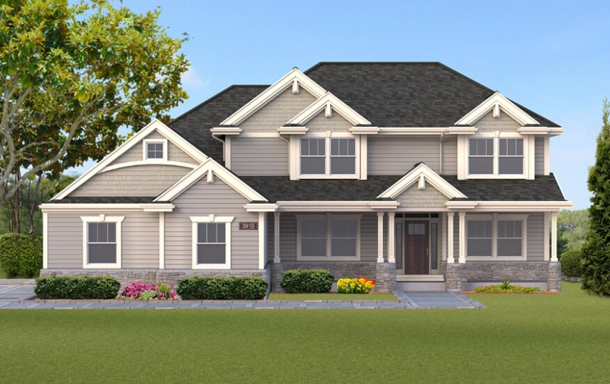 Single-family home rendering