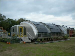 The University of Michigan's 2005 MiSo House currently resides on the grounds of the school'sbotanical gardens, where the public cantake tours and learn about green homes.