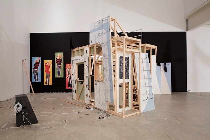 Ruffneck Constructivists, installation view, at the Institute of Contemporary Art, University of Pennsylvania