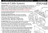 DesignRail® Aluminum Railing Installation - Vertical CableRail