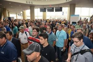 Rarin' to go: When the doors open for the PSP Expo, attendees will stream into the exhibit hall. This year, the event returns to Las Vegas in November. (Photo by Informa Exhibitions US)