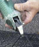 Figure 3. A pneumatic side cutter makes quick work of cutting heavy wire.