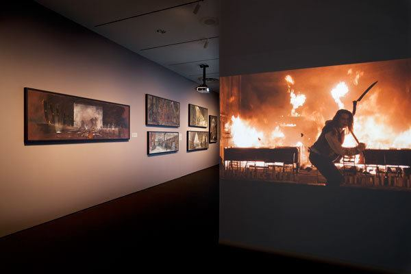 An image of the gallery walls from the exhibit.