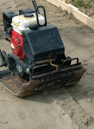 The ultimate performance of a concrete slab depends on the type of soil materials underneath, soil density, moisture content, and the flatness of the surface the concrete rests on. There are many types of compactors, each working better on some soil types than others.