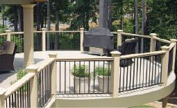 Figure 3. The cozy spaces created by round decks are a major wow factor.