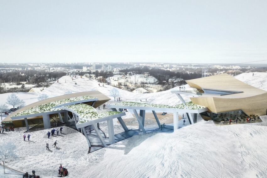 Studio Daniel Libeskind Releases Designs for Vilnius Beacon Ski Center in Lithuania