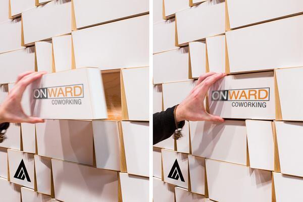 Onward Reception Wall, by Longo Park Design Workshop.