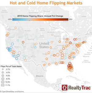 RealtyTrac hot and cold markets for home investment flippers