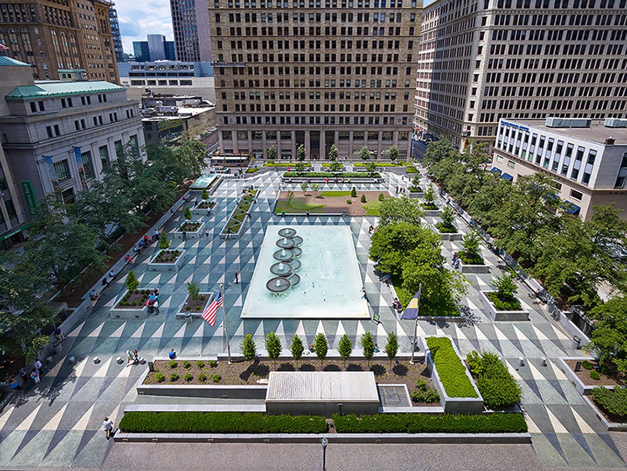 Courtyard Plans Mellon Square Architect Magazine Simonds Amp Simonds
