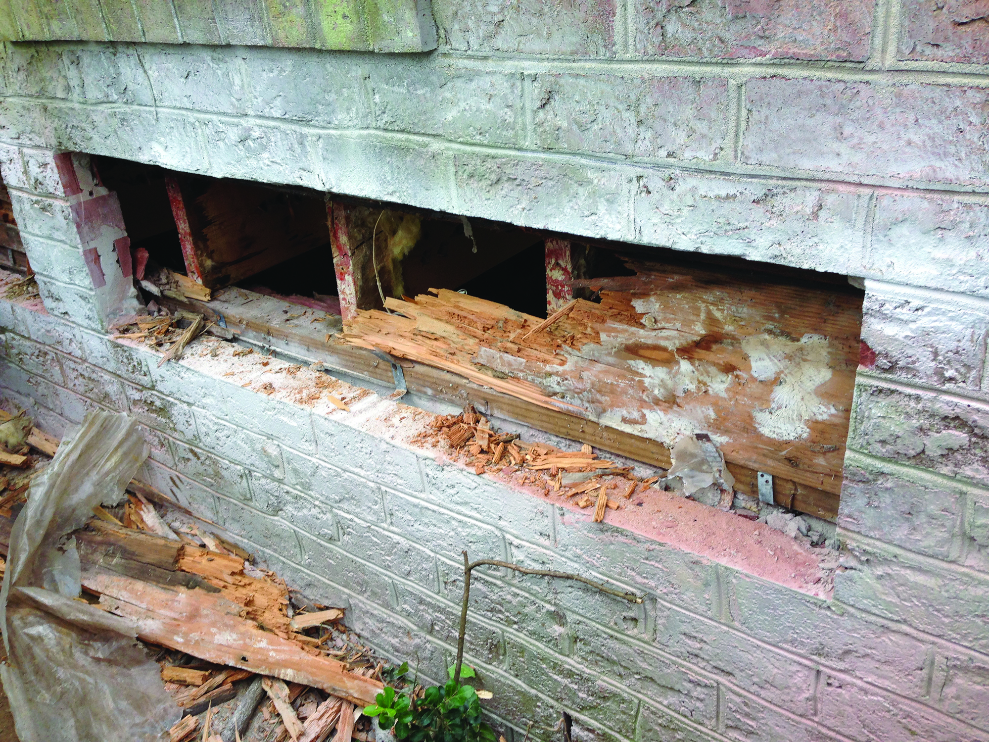 Replacing A Rotted Rim Joist Behind Brick Jlc Online Structure Walls Brick Framing