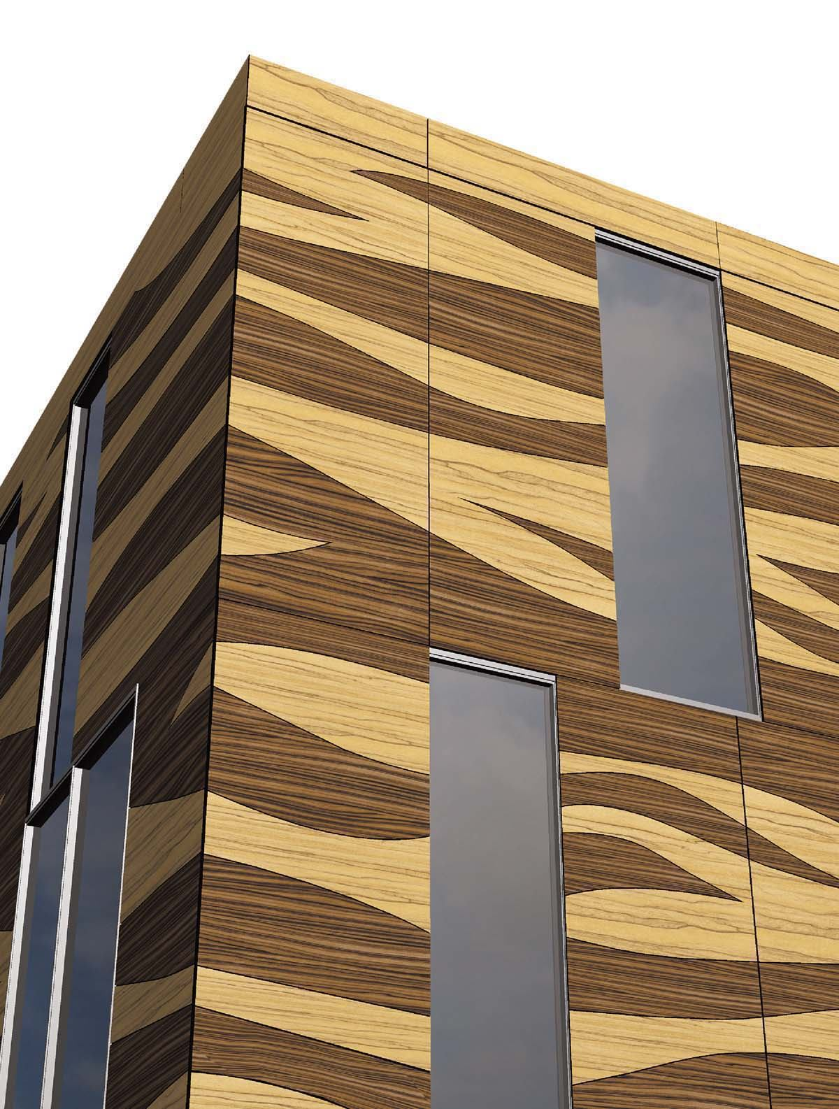 Trespa Wall Panel System : Wood decors for meteon panel system by trespa architect