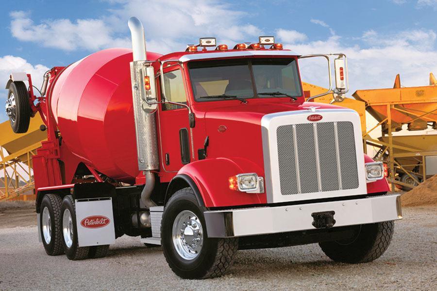Peterbilt Model 365 Truck Concrete Producer Jobsite