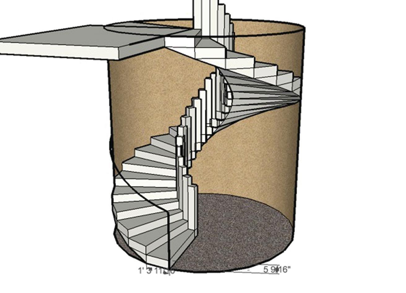 Forming A Circular Concrete Staircase Concrete