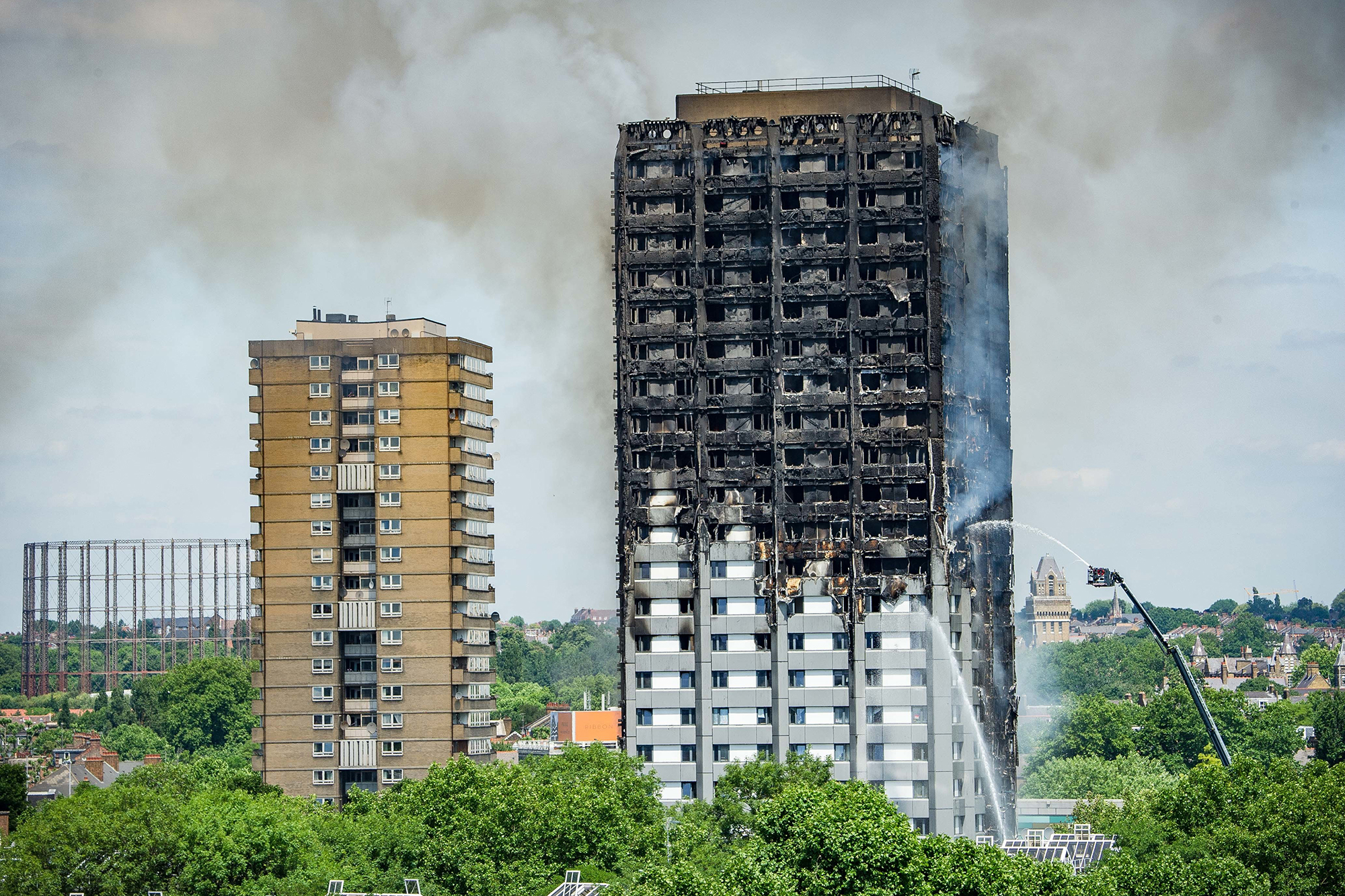 24 Story Residential Grenfell Tower In London Catches Fire