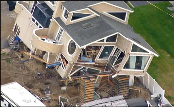 Sandy damaged house destroyed in fall from cribbing jlc for Randy stewart builder