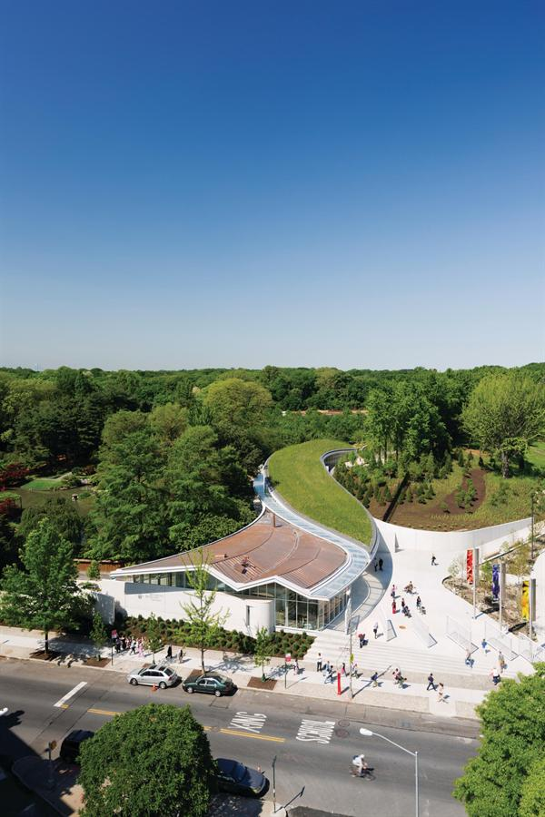 Brooklyn Botanic Garden Visitor Center Architect Magazine Weiss Manfredi Architecture