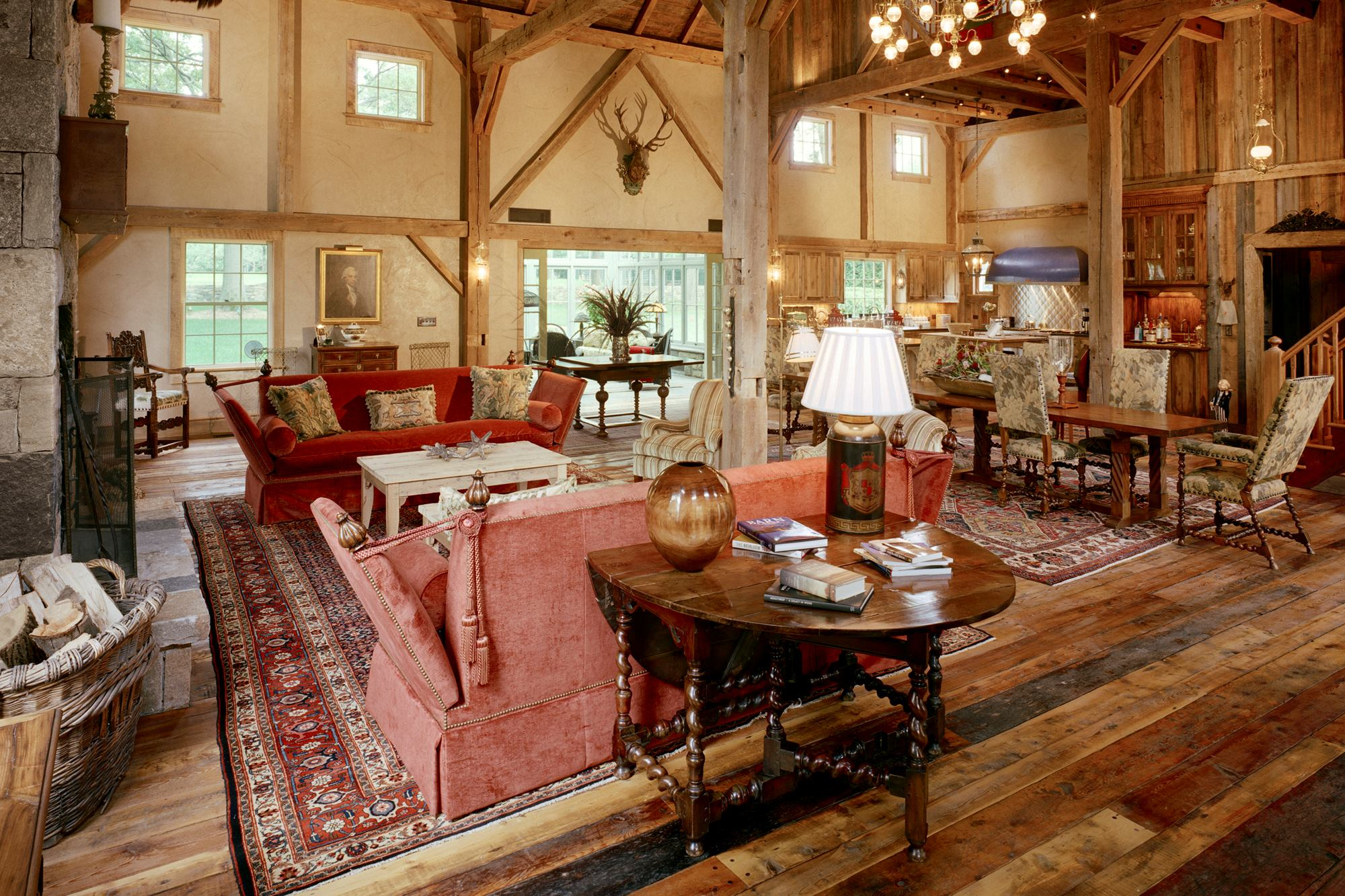 Converted barn kitchen builder magazine design award for Converting a pole barn into a house