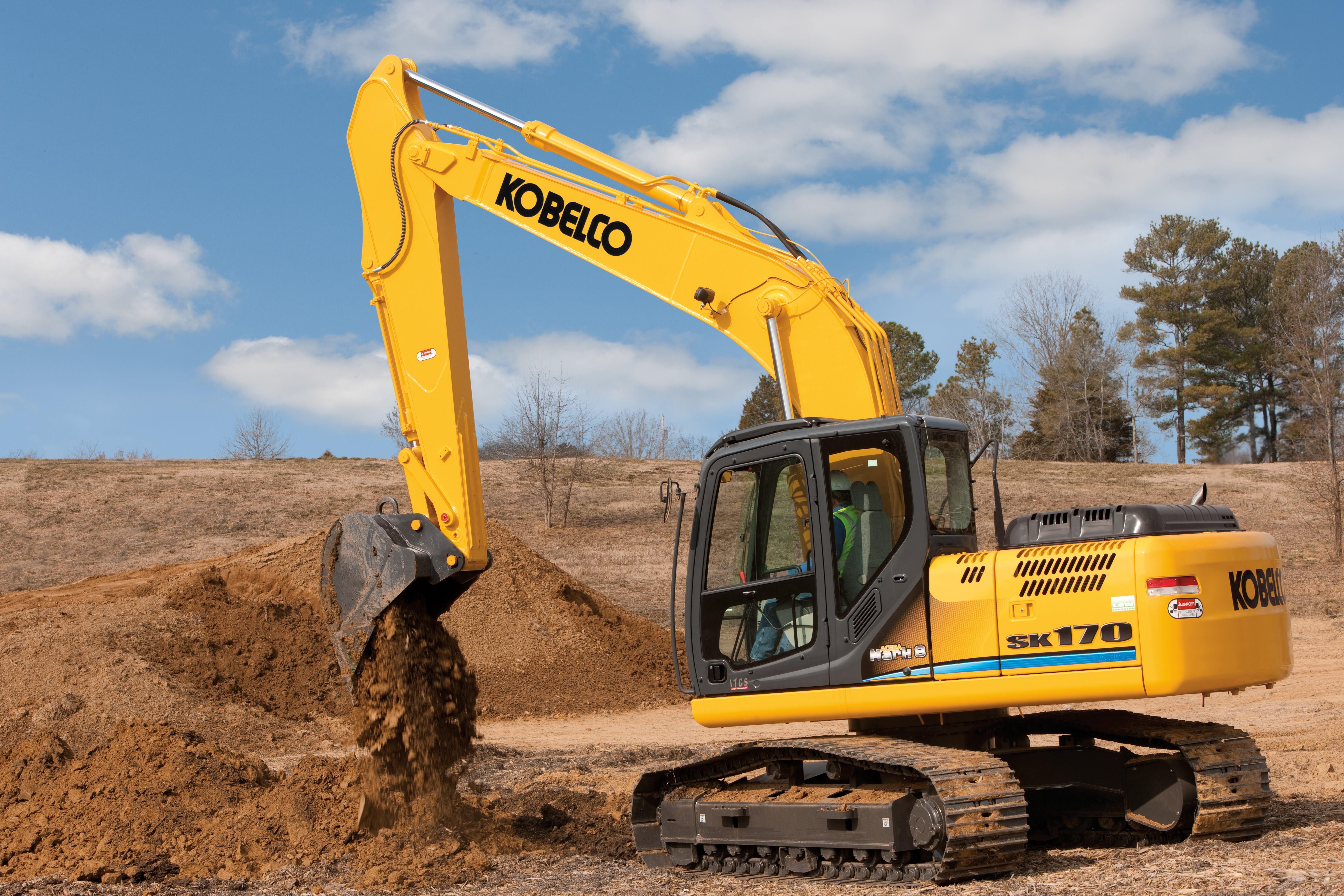 Kobelco Sk170 Mark 9 Excavator Concrete Construction