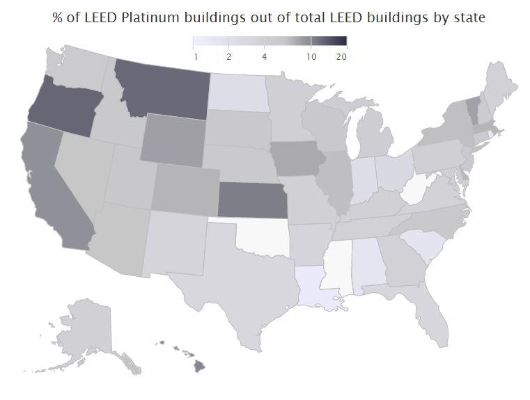 Leedheatmappromo Top States Leed Certifications Awarded