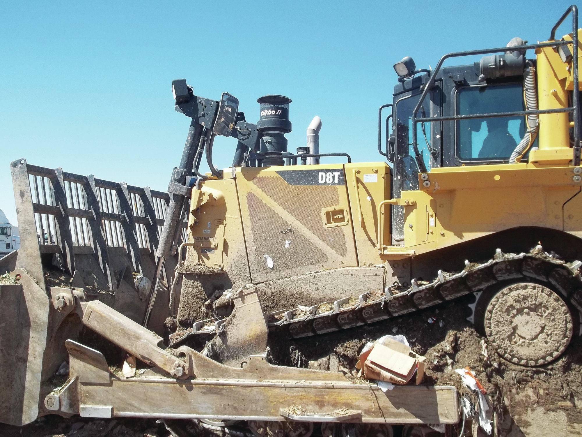 Tractors Air Filter Real Life : Precleaners extend landfill equipment engine life public