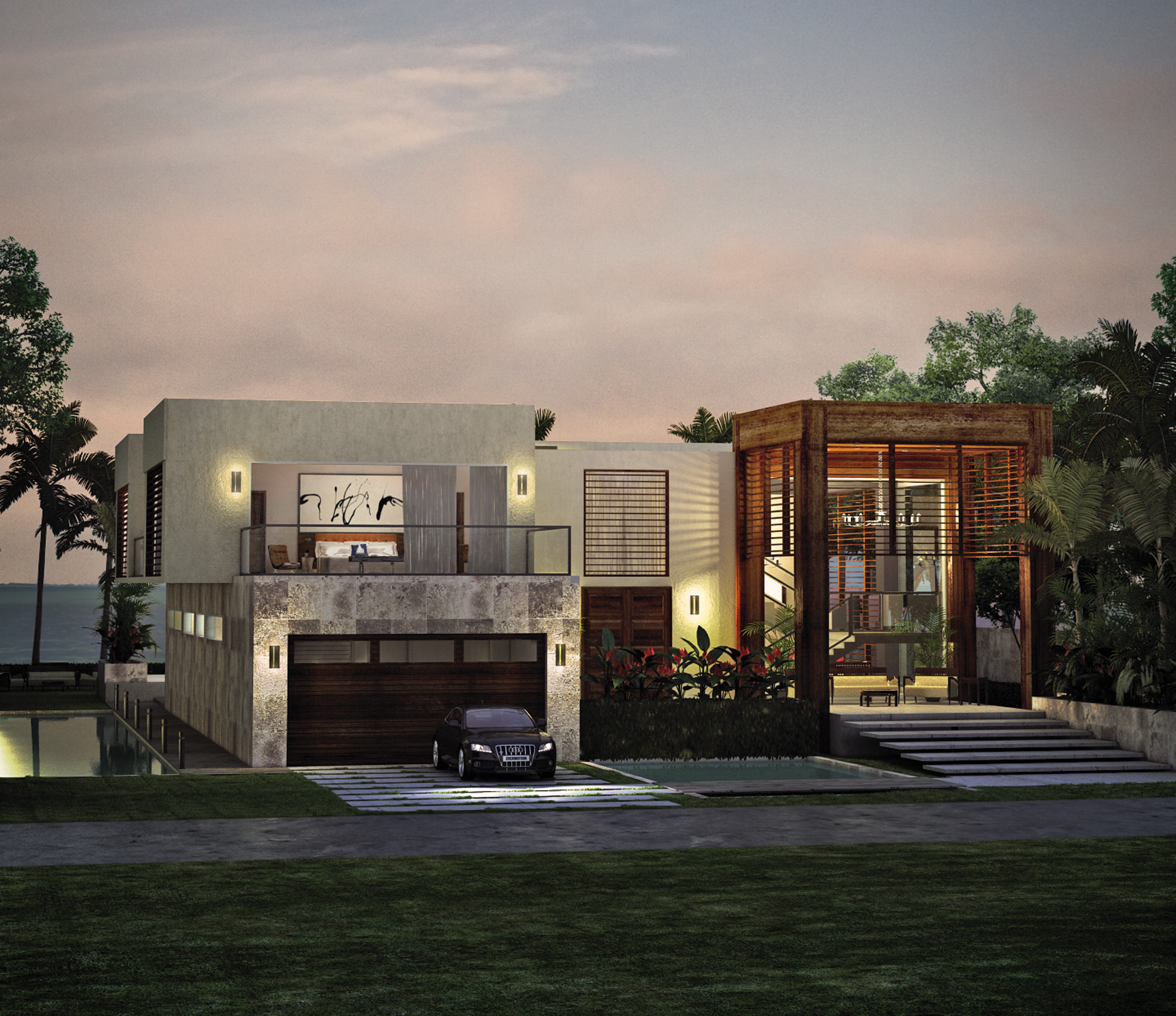 New Home Designs Latest December 2012: Tropical Modern House