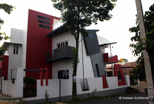 Architectural designs for modern duplex house architect for Architecture design for home in mysore
