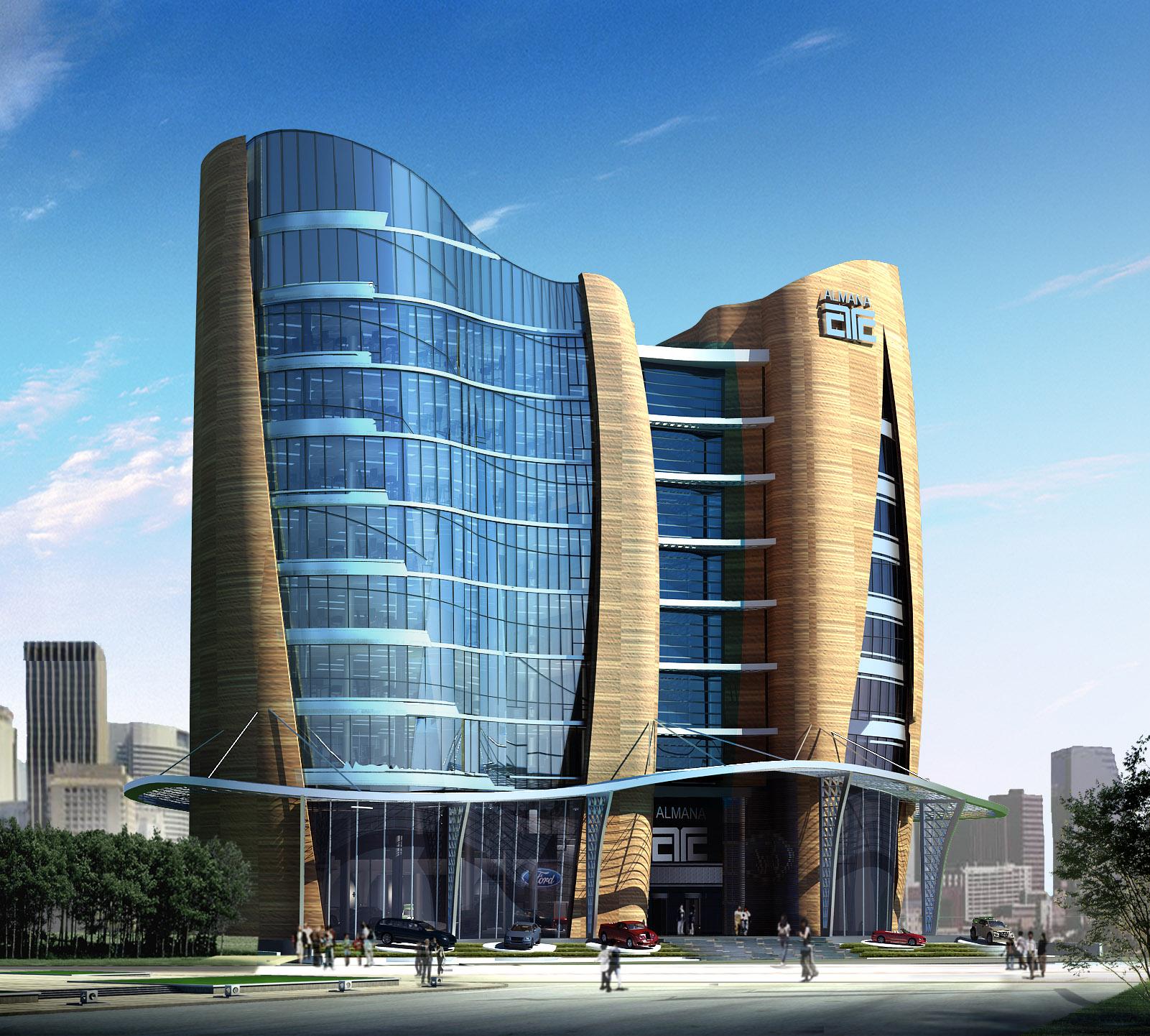 Markaz almana office building showroom architect for Architecture companies qatar