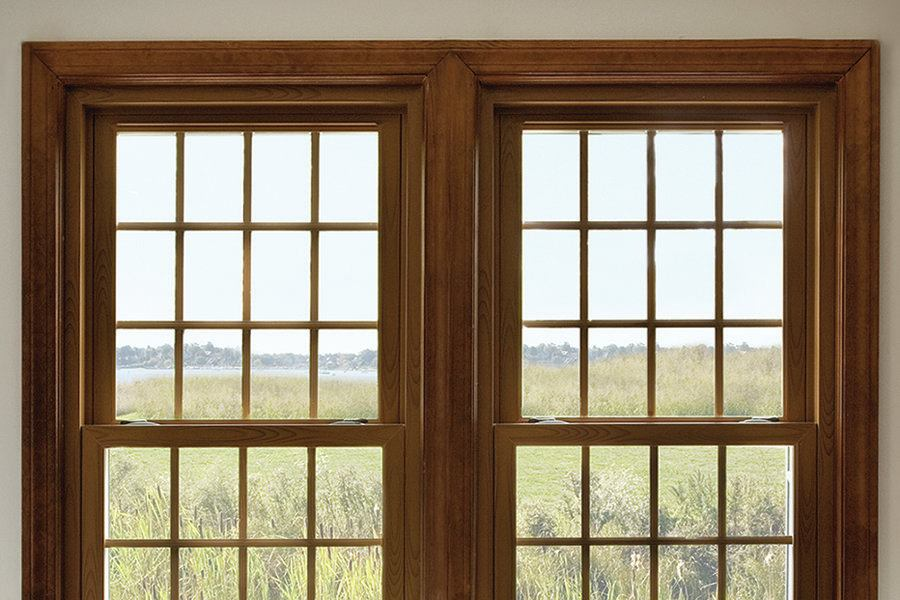 Wood grain vinyl jlc online vinyl windows for Vinyl windows online