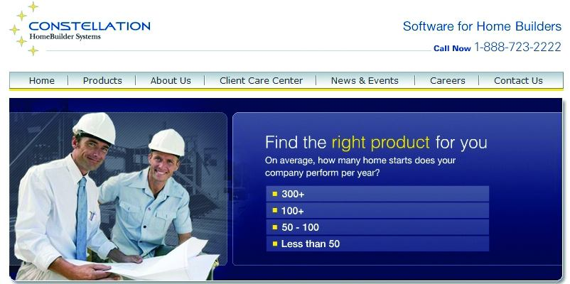 Builder software company constellation offers new web site for Home builder program