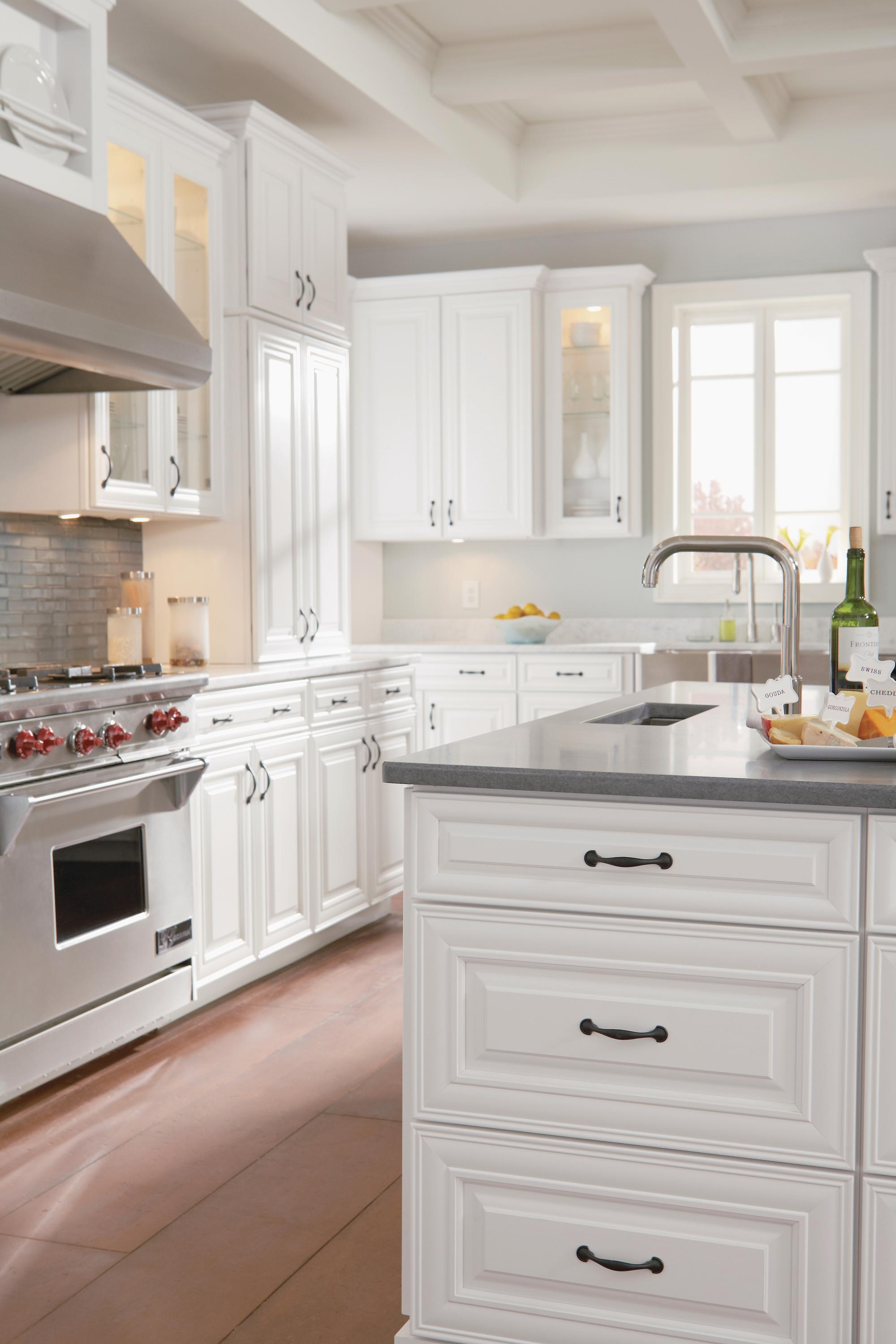 Timberlake cabinetry maple auburn glaze and painted maple for American maple kitchen cabinets