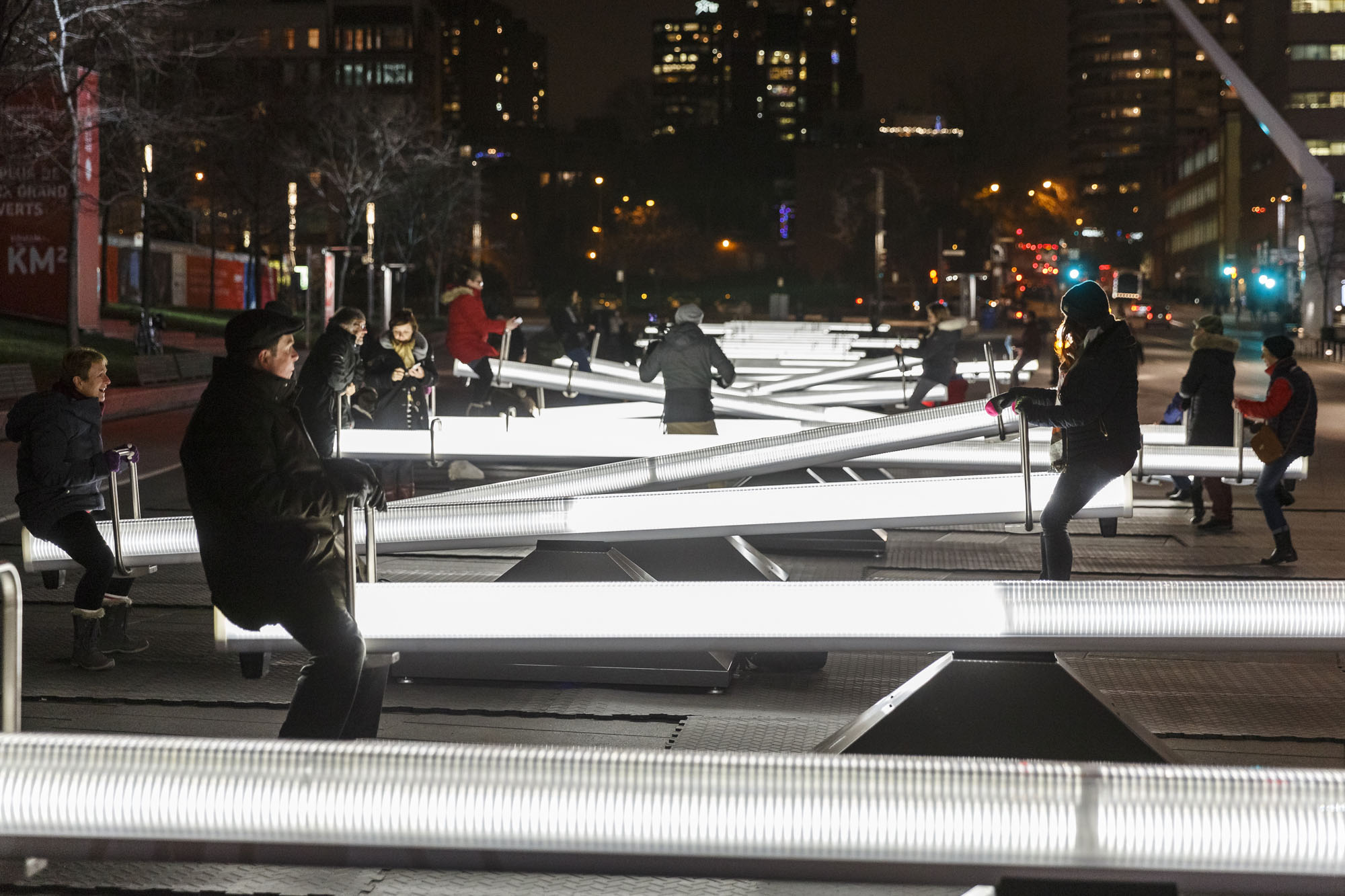 Montréal S Winter Playground Architectural Lighting Magazine