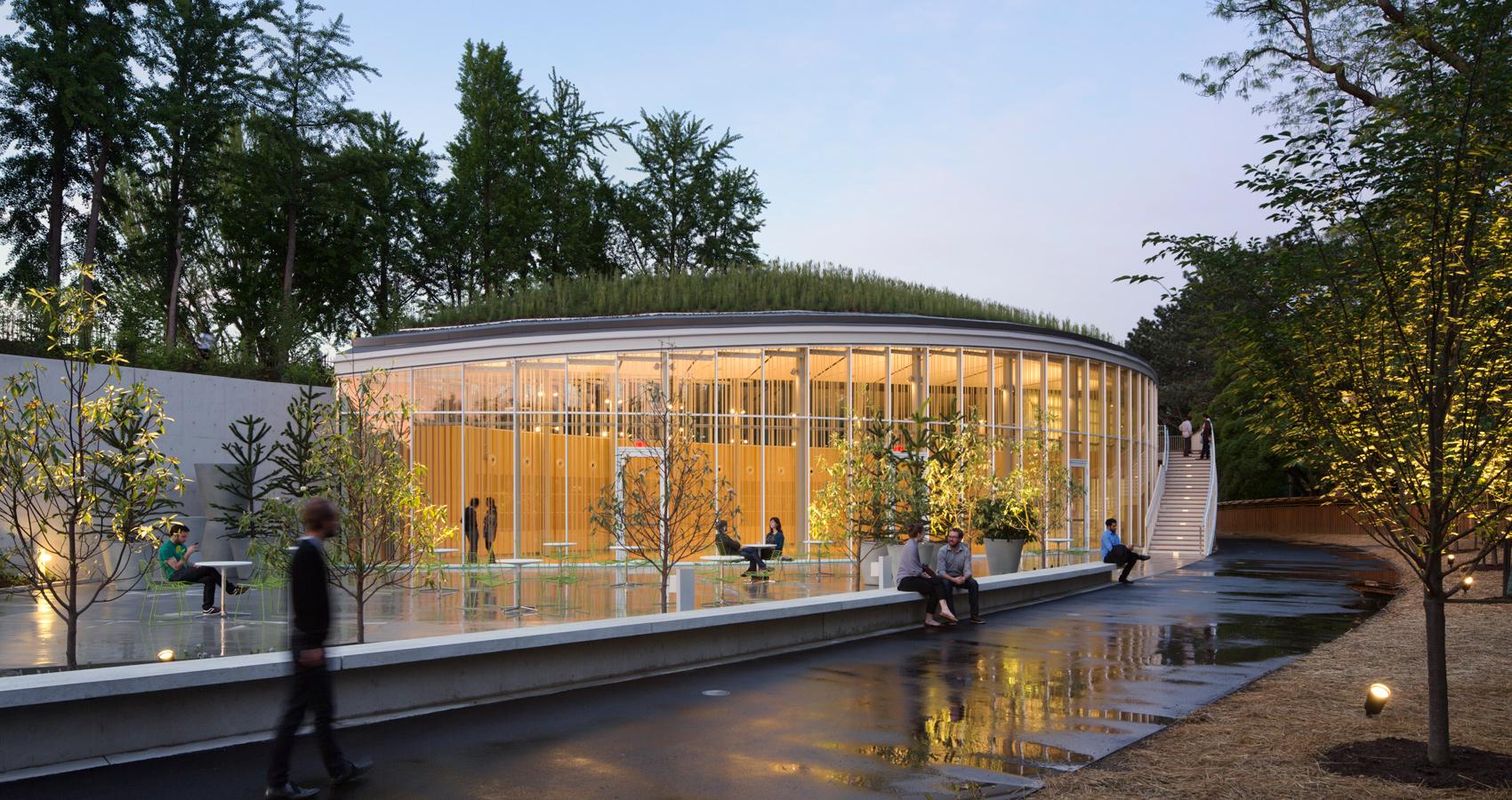 Brooklyn Botanic Garden Visitor Center Architect Magazine Weiss Manfredi Architecture