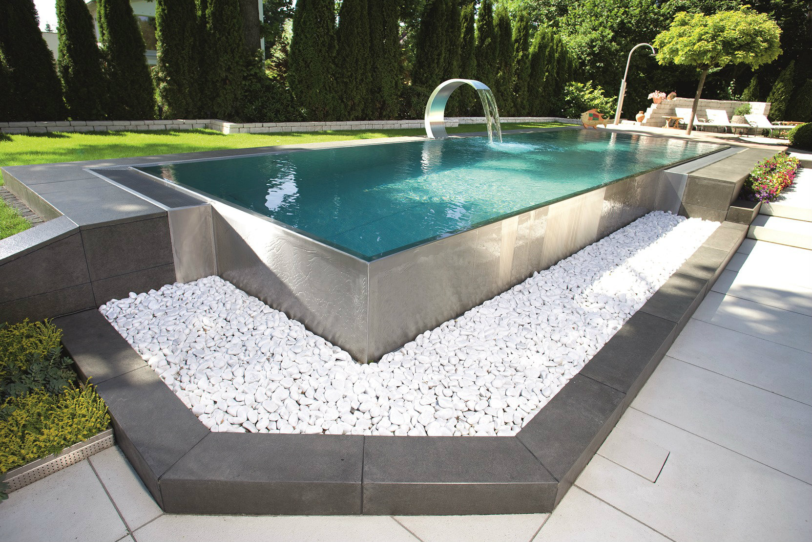 European stainless steel pool manufacturer berndorf enters for Swimming pool manufacturers