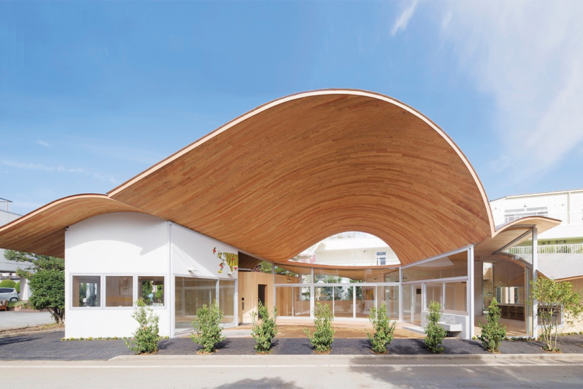 Toranoko Nursery Laminated Veneer Lumber Roof Architect