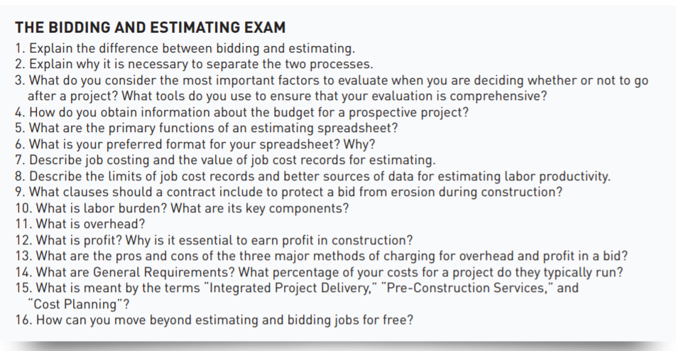 Your Bidding And Estimating Tune Up Guide Jlc Online Estimating