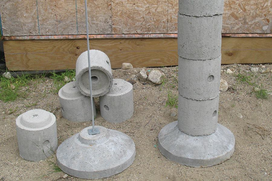 precast concrete piers footings precast deck piers professional deck builder foundation 4392