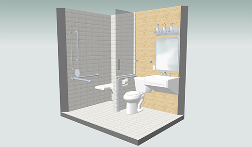 universal design bathroom before after