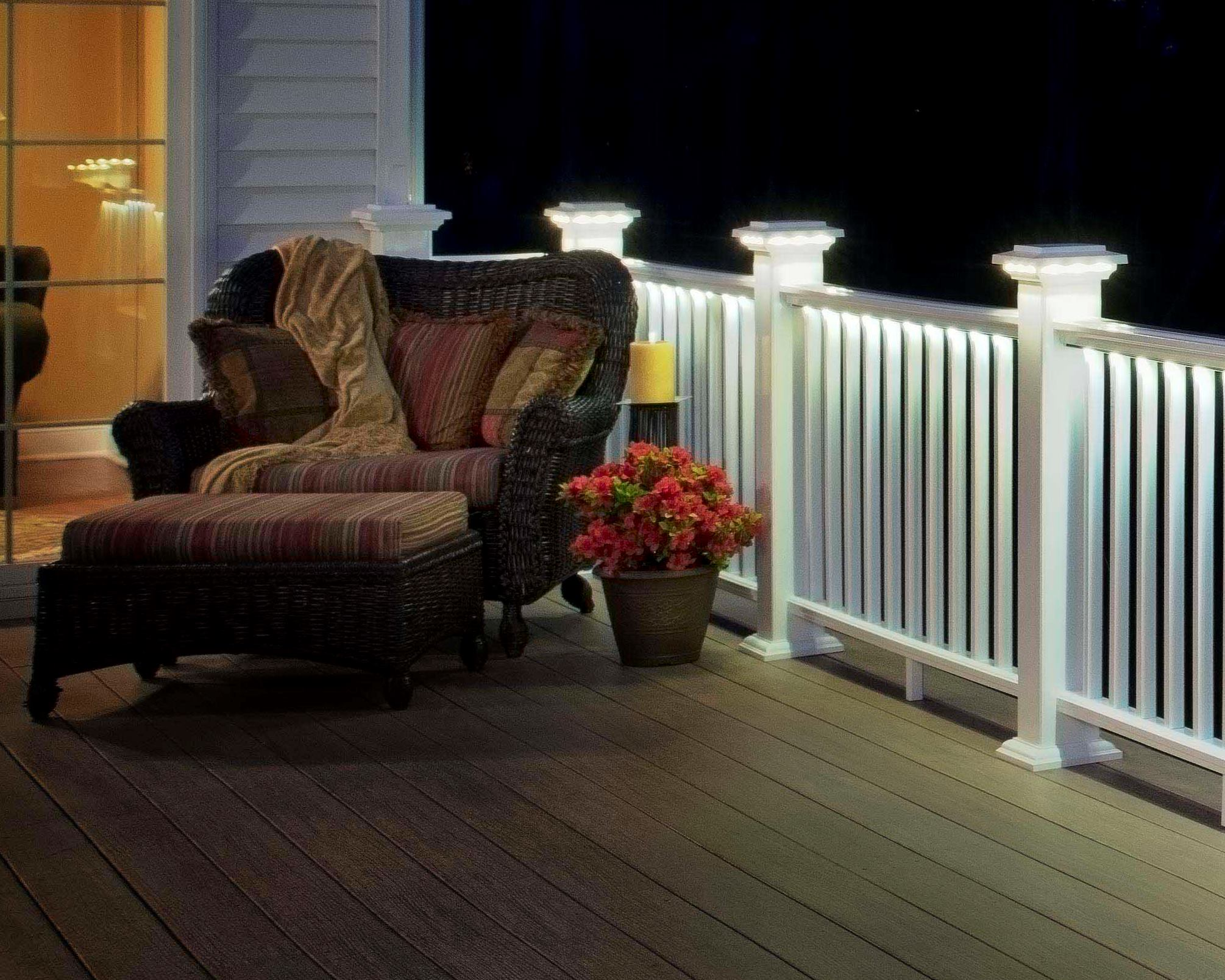 Deck Rail Lights From Azek Custom Home Magazine Products Decks Lighting Outdoor Rooms Business Building