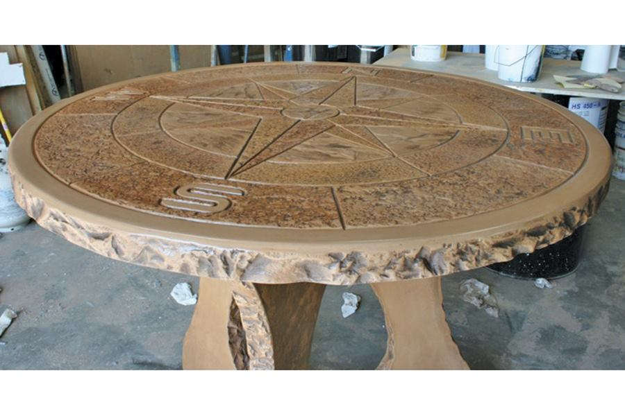 Stamped Concrete Medallions : Proline concrete tools compass medallion table top