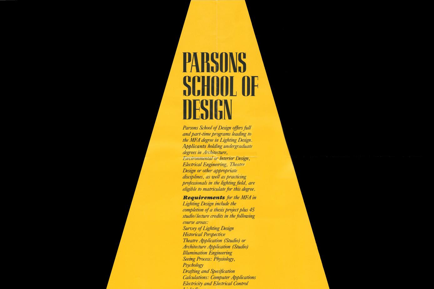 Establishment of the Lighting Program at Parsons   Architectural Lighting Magazine   Lighting Design Education AL 30th Anniversary Jim Nuckolls ... & Establishment of the Lighting Program at Parsons   Architectural ...