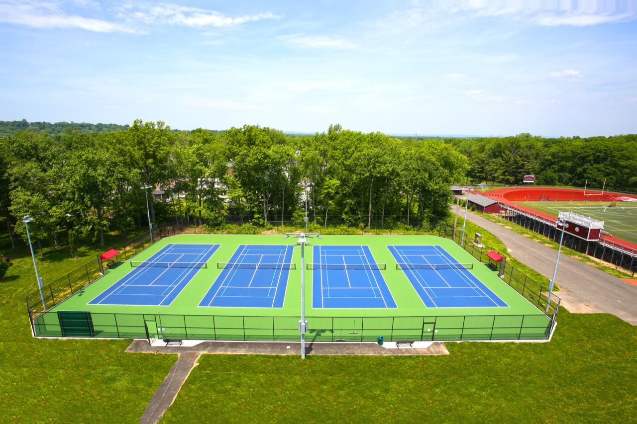 Tennis Court Built With Post