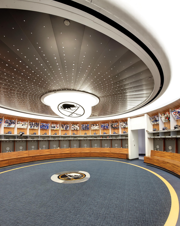 Green Drawing Room: Buffalo Sabres, Team Dressing Room, First Niagara Center