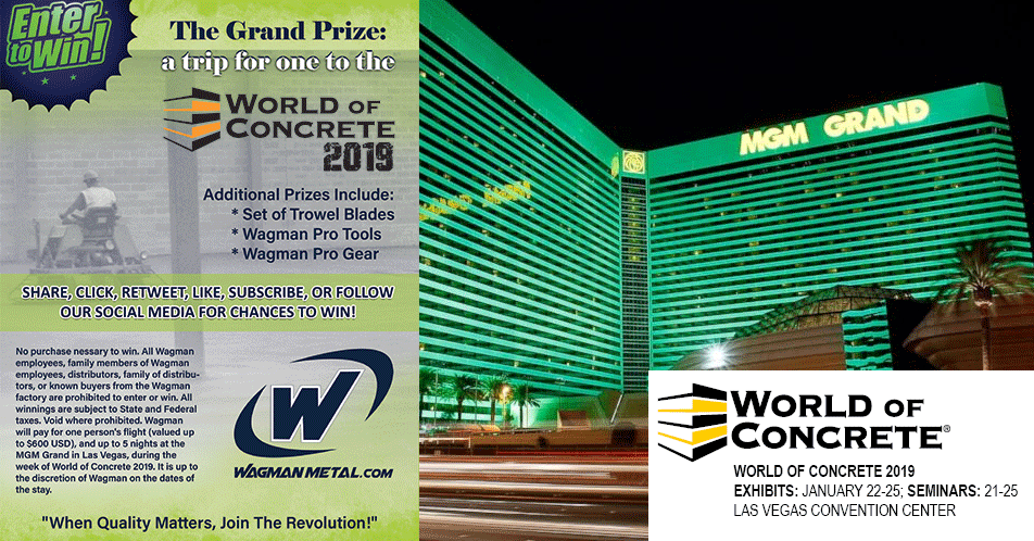 2019 World of Concrete Giveaway| Concrete Construction Magazine
