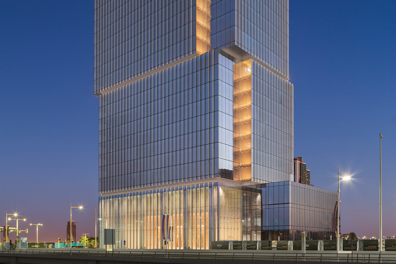 One Lux Studio Illuminates The Al Hilal Bank Tower