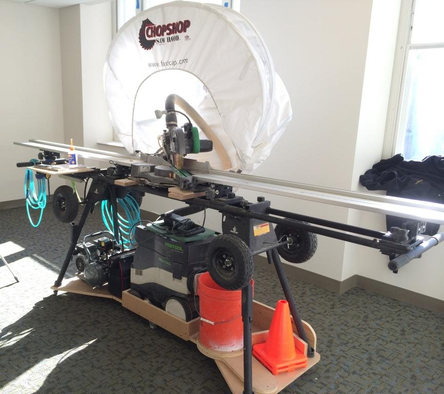 A Tricked Out Miter Saw Cart Tools Of The Trade Home Made And