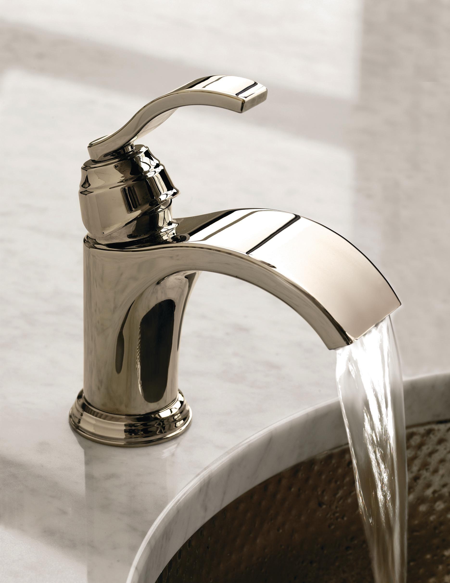 Watersense certified waterfall faucet from danze for Waterfall green design centre