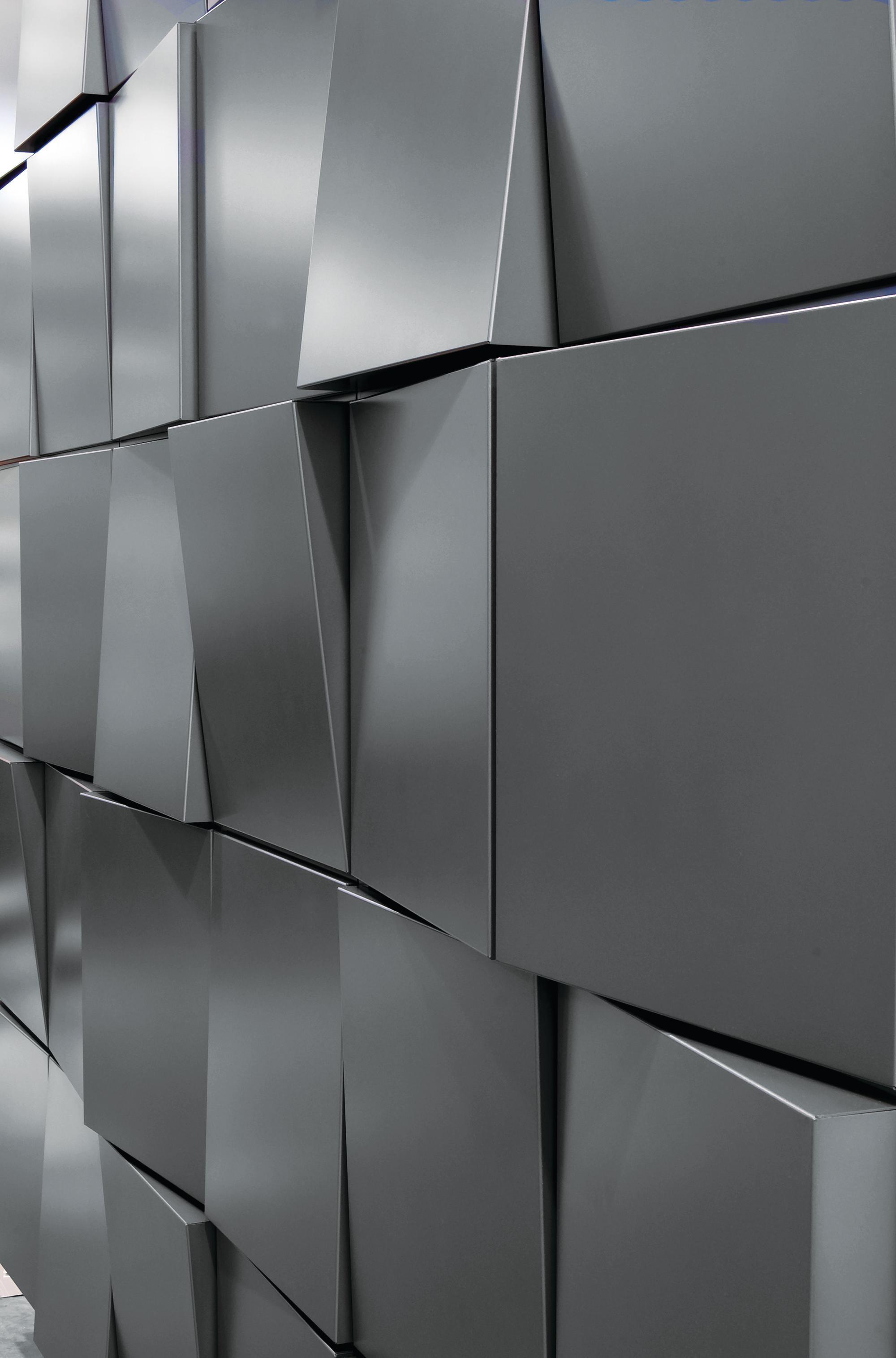 Metallic Wall Paneling : Dri design tapered series architect magazine panels