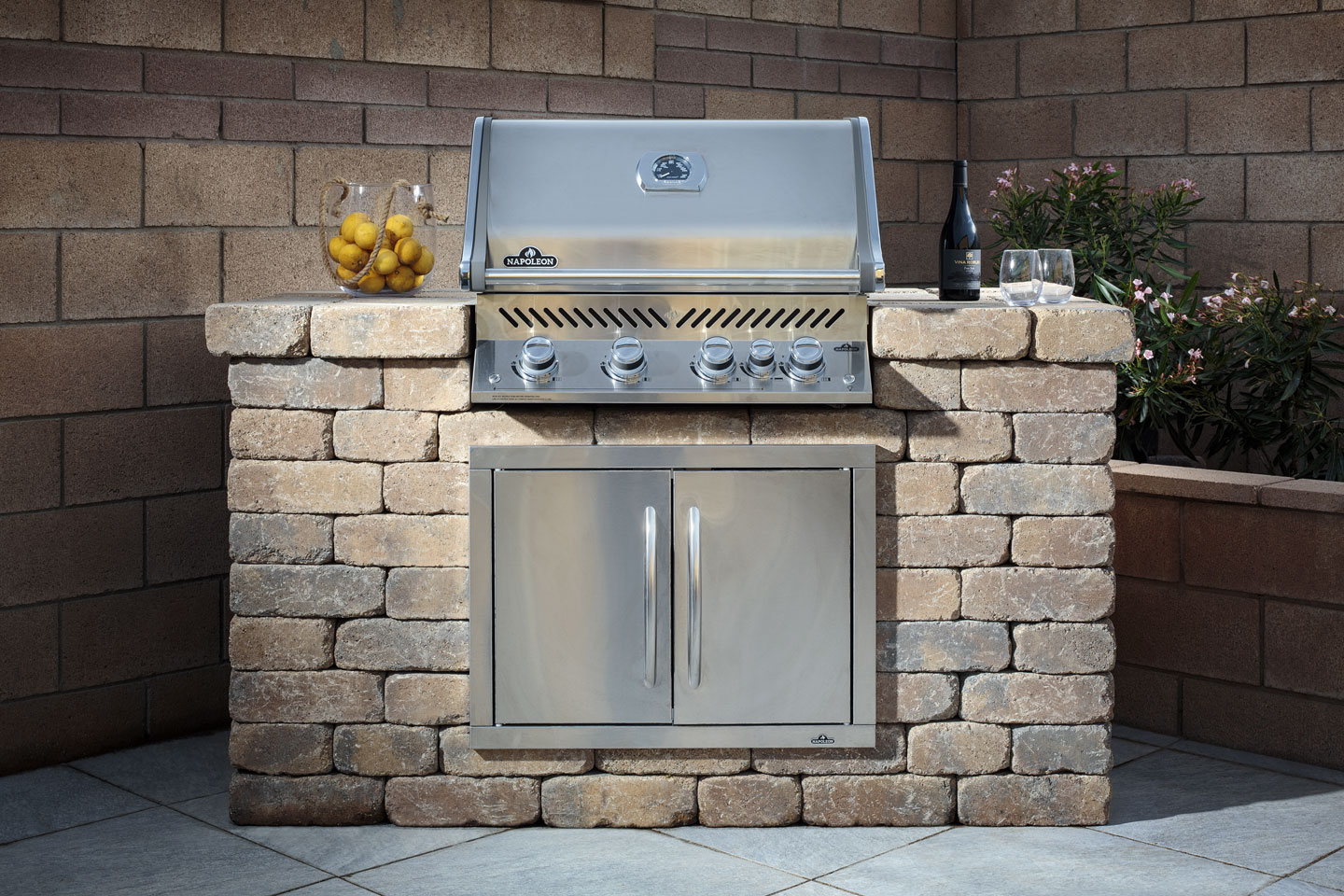 Image of: Grill Island Kit Linear Fire Pit Kit And Linear Fireplace Kit Builder Magazine